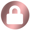 Candle Scoop Rose Gold Login Icon