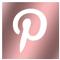 Rose Gold Pinterest Logo